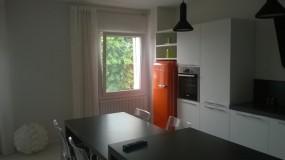 parete colonne cucina, con frigo free-standing